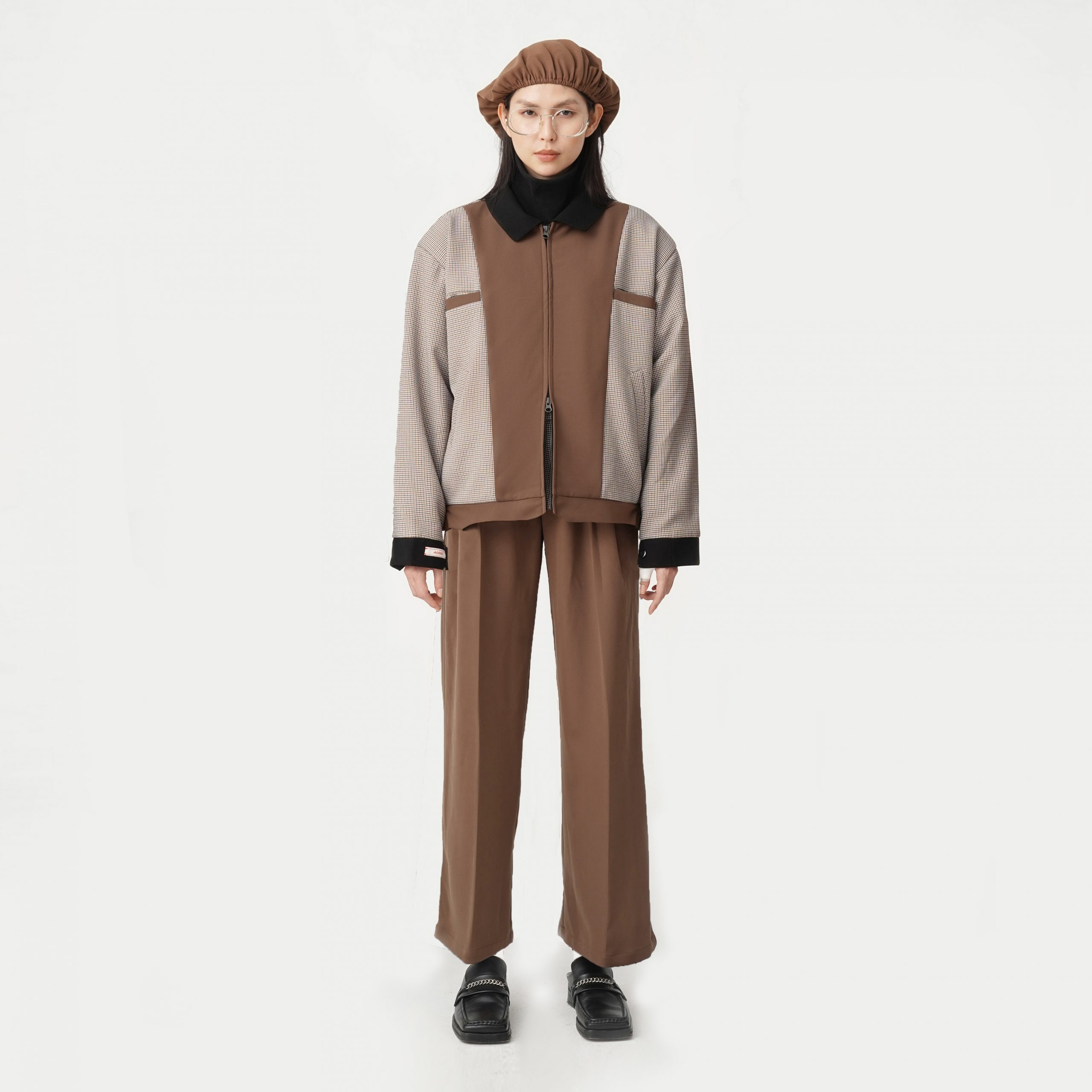 Aodec one jacket brown x Aodec two trousers brown scaled